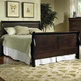 Samuel Lawrence 8070-252-253-508 BORDEAUX Queen Complete Bed w/Rails 5/0