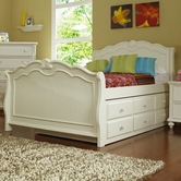 Samuel Lawrence 8134-737-738-404-801 VILLA Full Sleigh Trundle Bed