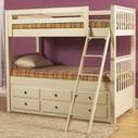 Samuel Lawrence 8206-730-731-732-801 Meadowbrook Twin-Over-Twin Bunk Bed and Trundle