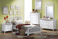 San Marino Youth White Bedroom Set - Acme 9150AT-55-59