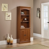 Sauder 101792 Camden County Library With Doors in Planked Cherry Finish