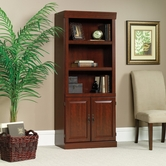 Sauder 102792 Heritage Hill Library With Doors In Classic Cherry