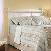 Sauder 158022 Harbor View Full/Queen Headboard in Antiqued White Finish