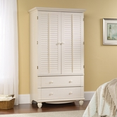 Sauder 158036 Harbor View Armoire in Antiqued White Finish A2