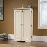 Sauder 158050 Harbor View Multimedia Storage Cabinetin Antiqued White Finish