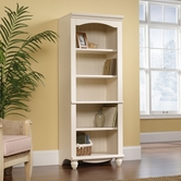 Sauder 158085 Harbor View Library In Antiqued White Finish