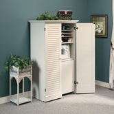 Sauder 158097 Harbor View Craft Armoire in Antiqued White Finish A2