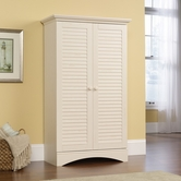 Sauder 400742 Harbor View Storage Cabinet in Antiqued White Finish