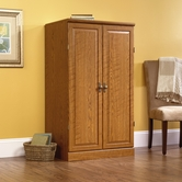 Sauder 401314 Orchard Hills Computer Armoire in Carolina Oak Finish