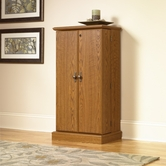 Sauder 401349 Orchard Hills Multimedia Storage Cabinet in Carolina Oak Finish
