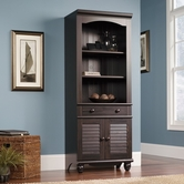 Sauder 401632 Harbor View Library With Doors in Antiqued Paint Finish