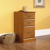 Sauder 401804 Orchard Hills 3-Drawer Pedestal in Carolina Oak Finish