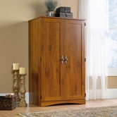 Sauder 404958 Harvest Mill Computer Armoire in Abbey Oak Finish