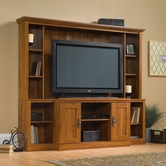 Sauder 404963 Harvest Mill Home Theater in Abbey Oak Finish