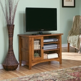 Sauder 406840 Rose Valley Entertainment Stand in Abbey Oak Finish