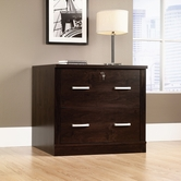 Sauder 408293 Office Port File Cabinet in Dark Alder Finish