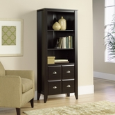 Sauder 408739 Shoal Creek Library With Doors In Jamocha Wood Finish