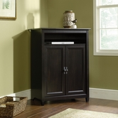 Sauder 409064 Edge Water Mobile Lifestyle Center in Estate Black Finish