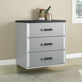 Sauder 409260 Sauder Tuff Duty 3-Dwr Base Cabinet in Polished Silver Finish