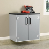Sauder 409261 Sauder Tuff Duty 2-Door Base Cabinet in Polished Silver Finish