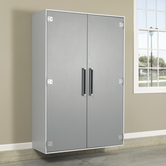 Sauder 409264 Sauder Tuff Duty Jumbo Stor Cabinet in Polished Silver Finish
