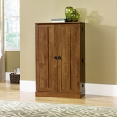 Sauder 409550 August Hill Multimedia Stor Cabinet in Oiled Oak Finish