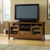 Sauder 409634 August Hill Entertainment Credenza in Oiled Oak Finish