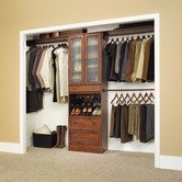 Sauder 409801 Closet in A Box - Wide in Coach Cherry Finish