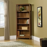 Sauder 409813 August Hill Library in Oiled Oak Finish