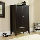 Sauder 409934 Shoal Creek Armoire in Jamocha Wood Finish