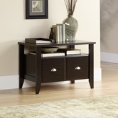 Sauder 409944 Shoal Creek Utility Stand in Jamocha Wood Finish
