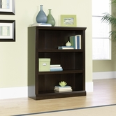 Sauder 410373 3 Shelf Bookcase in Jamocha Wood Finish