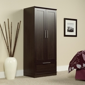 Sauder 411312 Homeplus Wardrobe in Dakota Oak Finish