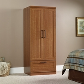 Sauder 411802 Homeplus Wardrobe/Storage Cabinet in Sienna Oak Finish