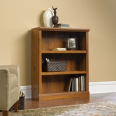 Sauder 411815 3-Shelf Bookcase in Abbey Oak Finish