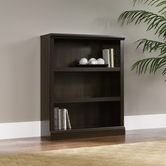 Sauder 411816 3-Shelf Bookcase in Cinnamon Cherry Finish