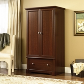 Sauder 411843 Palladia Armoire in Select Cherry Finish