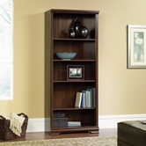Sauder 411897 Carolina Estate 5-Shelf Bookcase in Select Cherry Finish