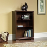 Sauder 411898 Carolina Estate 3-Shelf Bookcase In Select Cherry Finish