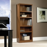 Sauder 411957 Homeplus 5-Shelf Bookcase in Sienna Oak Finish