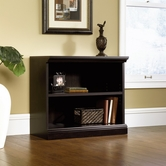 Sauder 412175 2-Shelf Bookcase in Estate Black Finish