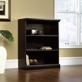 Sauder 412176 3-Shelf Bookcase in Estate Black Finish