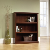 Sauder 412808 3 Shelf Bookcase in Select Cherry Finish