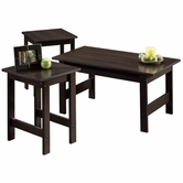 Sauder 412935 Beginnings 3 Pack Table Set in Cinnamon Cherry Finish