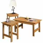 Sauder 412936 Beginnings 3 Pack Table Set in Highland Oak Finish