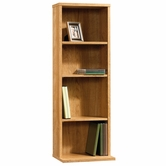 Sauder 413023 Beginnings Multimedia Storage Tower in Highland Oak Finish