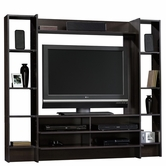 Sauder 413044 Beginnings Entertainment Wall System in Cinnamon Cherry Finish