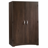 Sauder 413049 Beginnings Computer Armoire in Cinnamon Cherry Finish