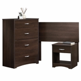 Sauder 413075 Beginnings Bedroom in A Box in Cinnamon Cherry Finish