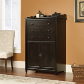Sauder 413092 Edge Water Smartcenter Secretary in Estate Black Finish